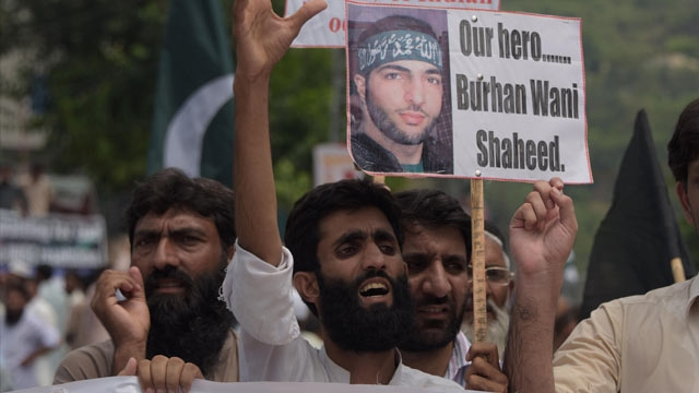One year after Burhan Wanis death : Kashmir
