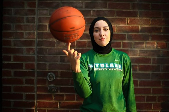 US Muslim female player happy after ban removed on wearing headscarves in basketball