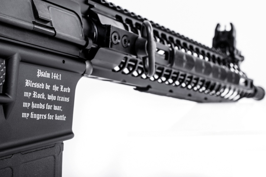 A US Weapon Manufacturer is selling `The Crusader` Rifle to repel Muslims