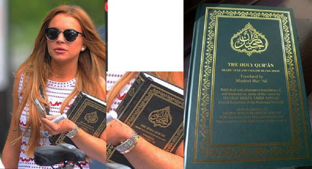 US Actress Lindsay nowadays studying Quran