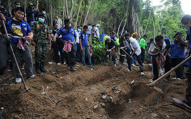 Malaysia confirms discovery of mass graves Rohingya migrants