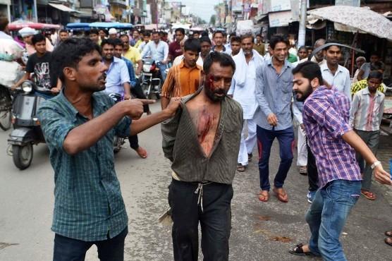 Indian Muslim was brutally assaulted by Hindu extremists in Muzaffarnagar