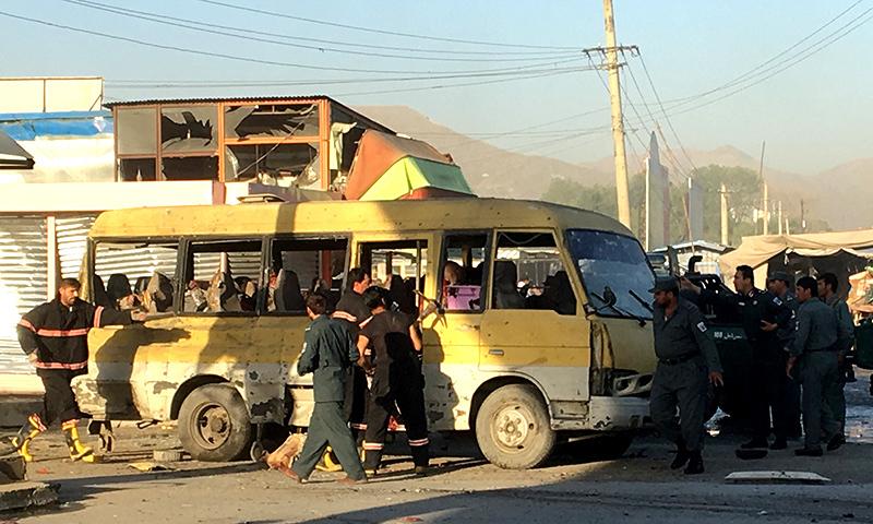 Minibus blast in Kabul kills 14, wounds eight
