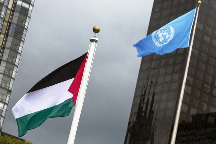 Palestinian flag raised at United Nation for first time