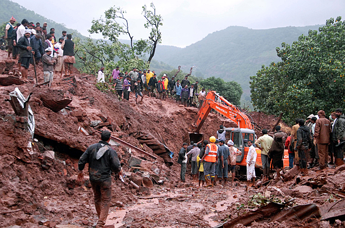 India landslide death toll rises