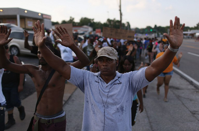 Protesters back on the streets in US suburb