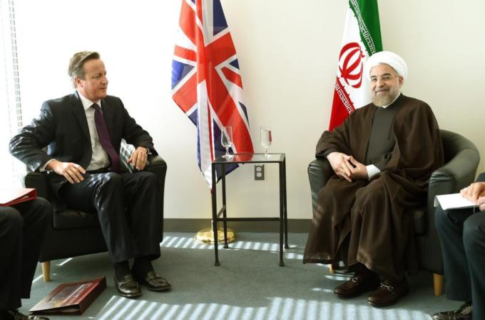 Leaders of UK and Iran meet after decades