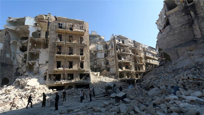 Syria`s government  attacks there people kill 75 in Aleppo :Syria