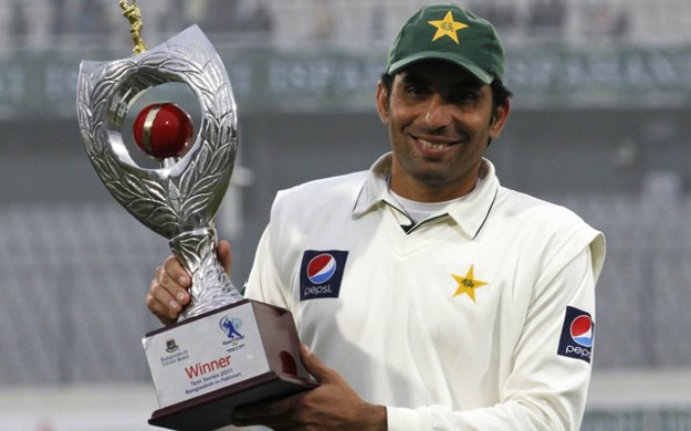 Pakistani Test Team Captian Misbahul Haq named as world's best captain