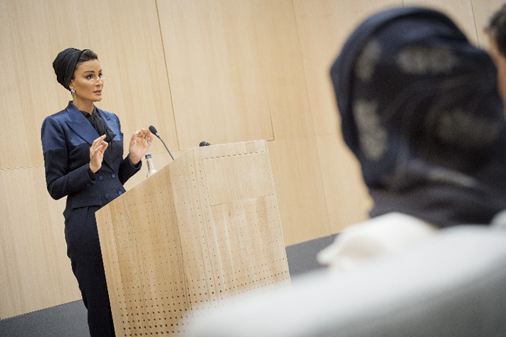 England: Sheikha Moza of Qatar opens Oxford University`s Middle East Centre