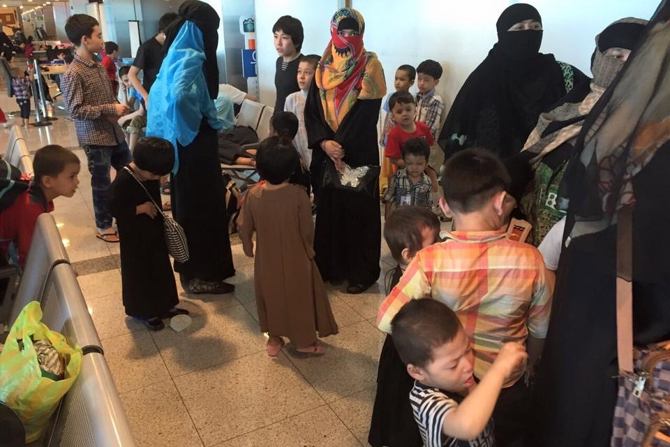 Uyghur Muslims refugees arrive in Turkey after fleeing China