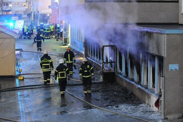 French mosque target of fire attack