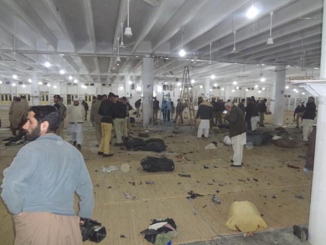 Blast at Peshawar Tablighi centre 10 killed,  more than 60 injured