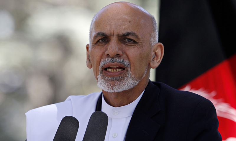 Ghani says won't allow Afghanistan to be used for proxy wars