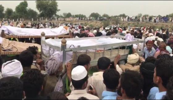 Large gathering to pray in collective funeral, held for Bahawalpur oil tanker fire victims