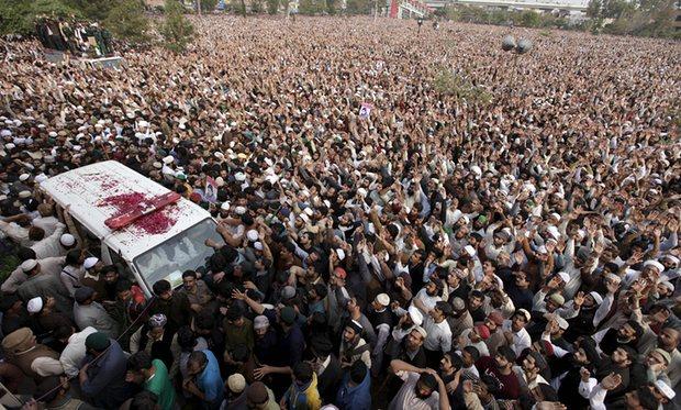 Millions mourn at Mumtaz Qadri funeral