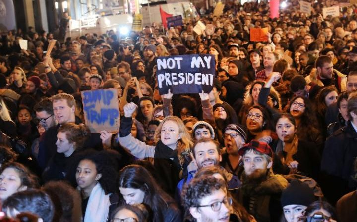 Thousands join anti-Trump protests around US