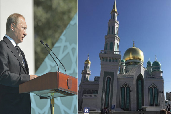 Russian President Putin opens Moscow`s largest mosque