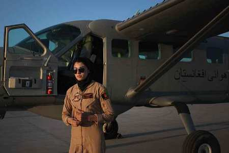 First female Afghan Military pilot receives Woman of Courage Award