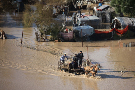 Israel opens Gaza Dams without Warning, Floods 80 Homes and hundreds displaced