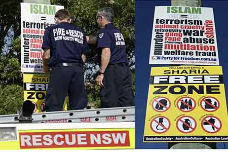 Islamophobic Placards Target Sydney Islamic School