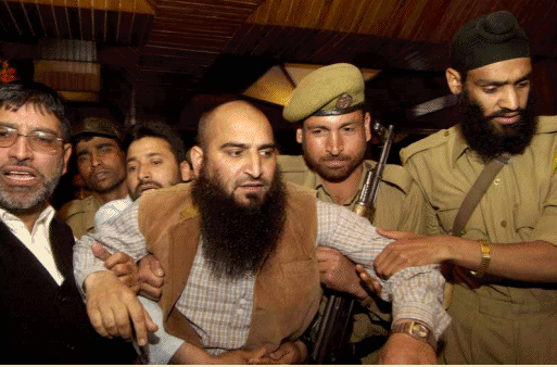 Muslim Kashmir Leader  arrested for waving Pakistani flag in Srinagar