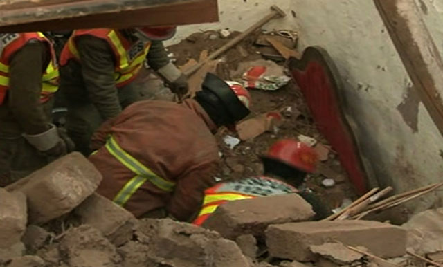 Five dead as mosque roof collapses