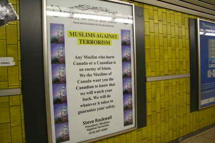 Anti terrorism Ad campaign launched by Canadian Muslims