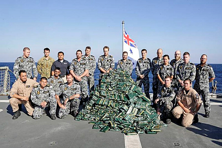 Australian and Pakistani warships work together to seize large quantity of canna