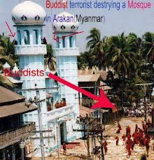 Buddhist mobs destroyed the mosque in Burma