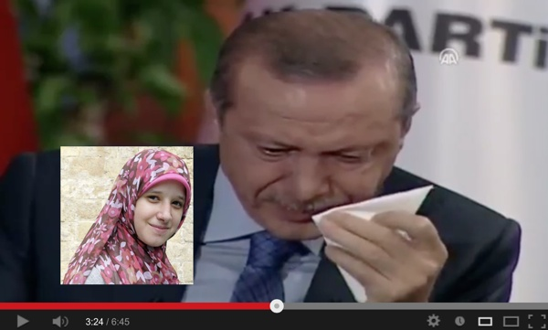 Recep Tayyip Erdogan cries at poem celebrating Muslim Brotherhood politician's