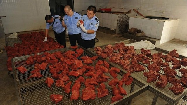 Muslims fed pork in China