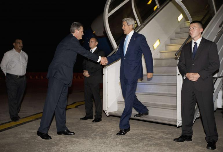 Broad agenda as Kerry arrives in Australia for talks