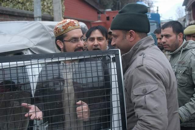 Mirwaiz Umer Farooq under arrest