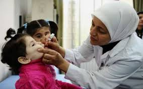 Vaccination To Syrian Children Suffering In Polio