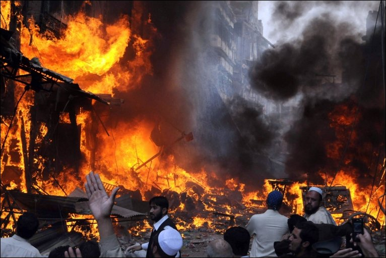 Desecration of the Holy Quran, angry crowd torched the Hindu community centre in